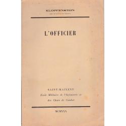 L'Officier 1930 - Conférence du chef de Bataillon Klopfenstein
