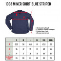 1908 Miner Shirt blue striped