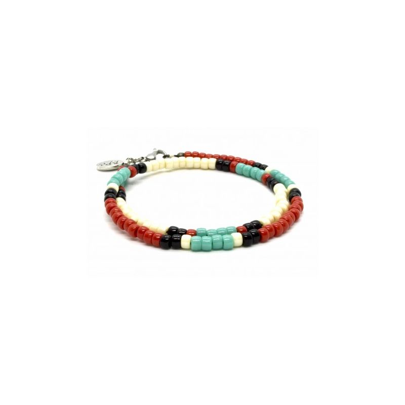 Bracelet double 'Native Style' mix