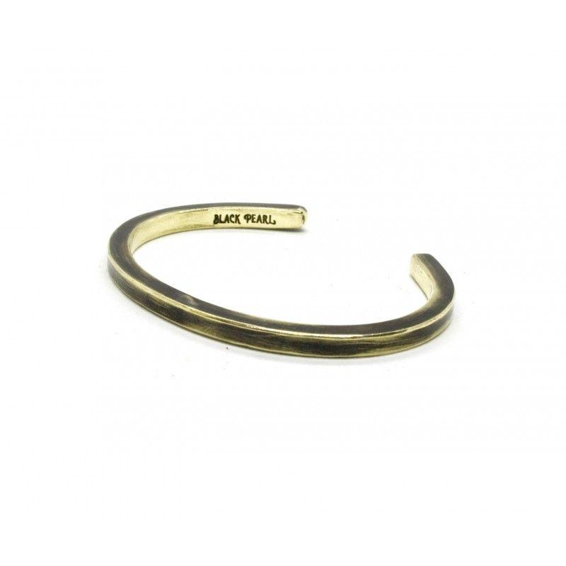 Bracelet jonc laiton patiné