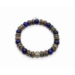 Bracelet Tigre bleu mat et Coco
