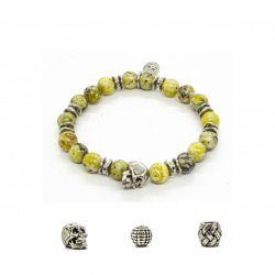 Bracelet Turquoise Jaune, skull