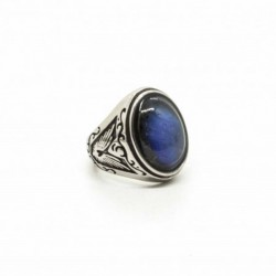 Bague Labradorite Blue Fire...