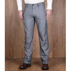 Pantalon d'été lin/coton à...