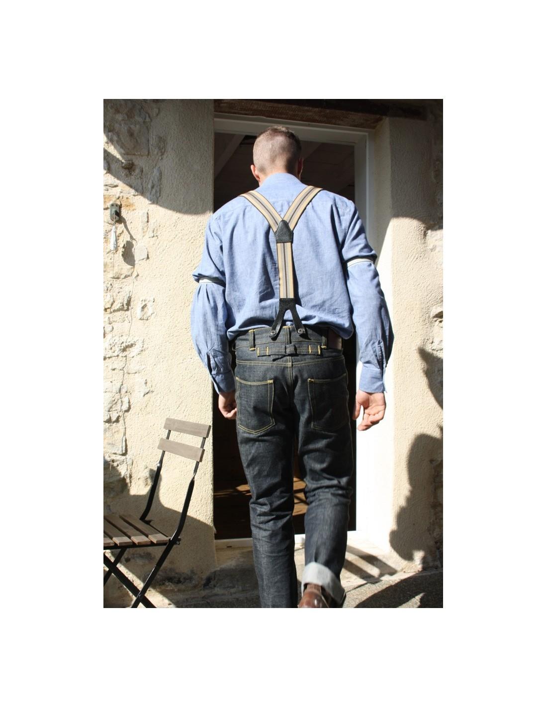 Bretelle Pantalon Bretelle Et Et Retro Homme Pantalon A5q34LjR