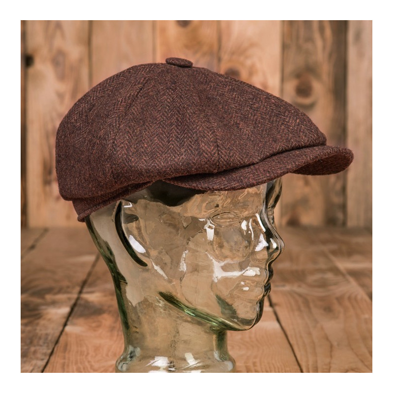 Casquette Newsboy Cap Herrinbone Brown 1928