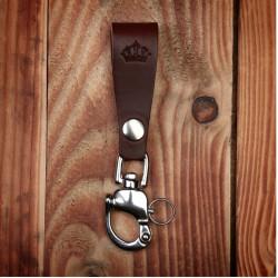 Porte-clés Cuir Marron Fonçé - 1965 Key Hanger dark brown