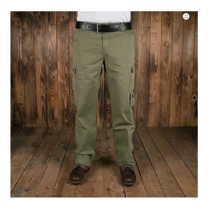 Pantalon Tiger Stripe - 1966 Jungle Pant herringbone oliv (HBT)