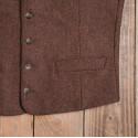 Gilet Buccaneer rust brown wool mod 1923