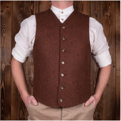 Gilet Buccaneer rust brown wool mod 1923