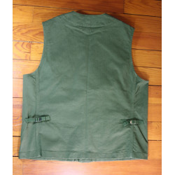 Gilet HBT (Herringbone Twill) Olive Drab - Cruiser Vest HBT by Manifattura Ceccarelli