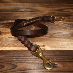 Cordon en cuir tressé acajou pour portefeuille ou porte-clés - 1932 Engineer Lanyard cognac oiled