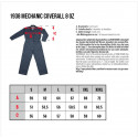 Combinaison en Denim - 1938 Mechanic Coverall 8oz indigo Pike Brothers