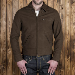 Blouson cycliste marron foncé 1932 Roadster Jacket Moleskin chocolate brown