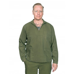 Vareuse HBT - Eat Dust - Fisherman Shirt HBT Olive Drab