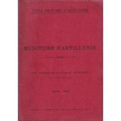 Munitions d'Artillerie Avril 2928