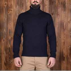 Pull-over col-roulé Marin 1923 Turtle Neck Dark Navy Pike Brothers