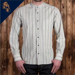 Chemise 100% coton - 1923 Buccanoy Shirt Ipswith ecru Pike Brothers