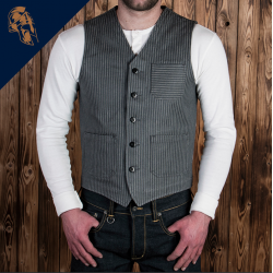 Gilet Gris à rayures - 1937 Roamer Vest Grey Wabash