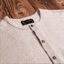 T-shirt Henley à boutonnière et manches longues écru mélangé - Pike Brothers 1927 Henley long Sleeve