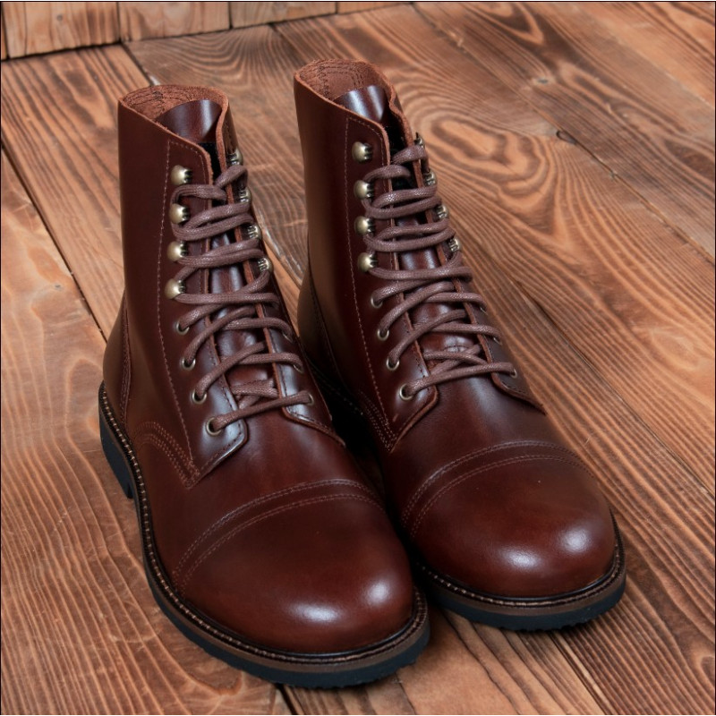 Quarters Pike Bottines Low Factory 1966 Brothers Cuir Oiled Cognac Forties SzVMpUq