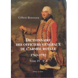 Dictionnaire des officiers généraux de l'armée royale, 1763-1792 - tome II : D-K