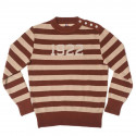 "JERSEY ""1922"" BROWN OFF WHITE - A Piece of Chic"