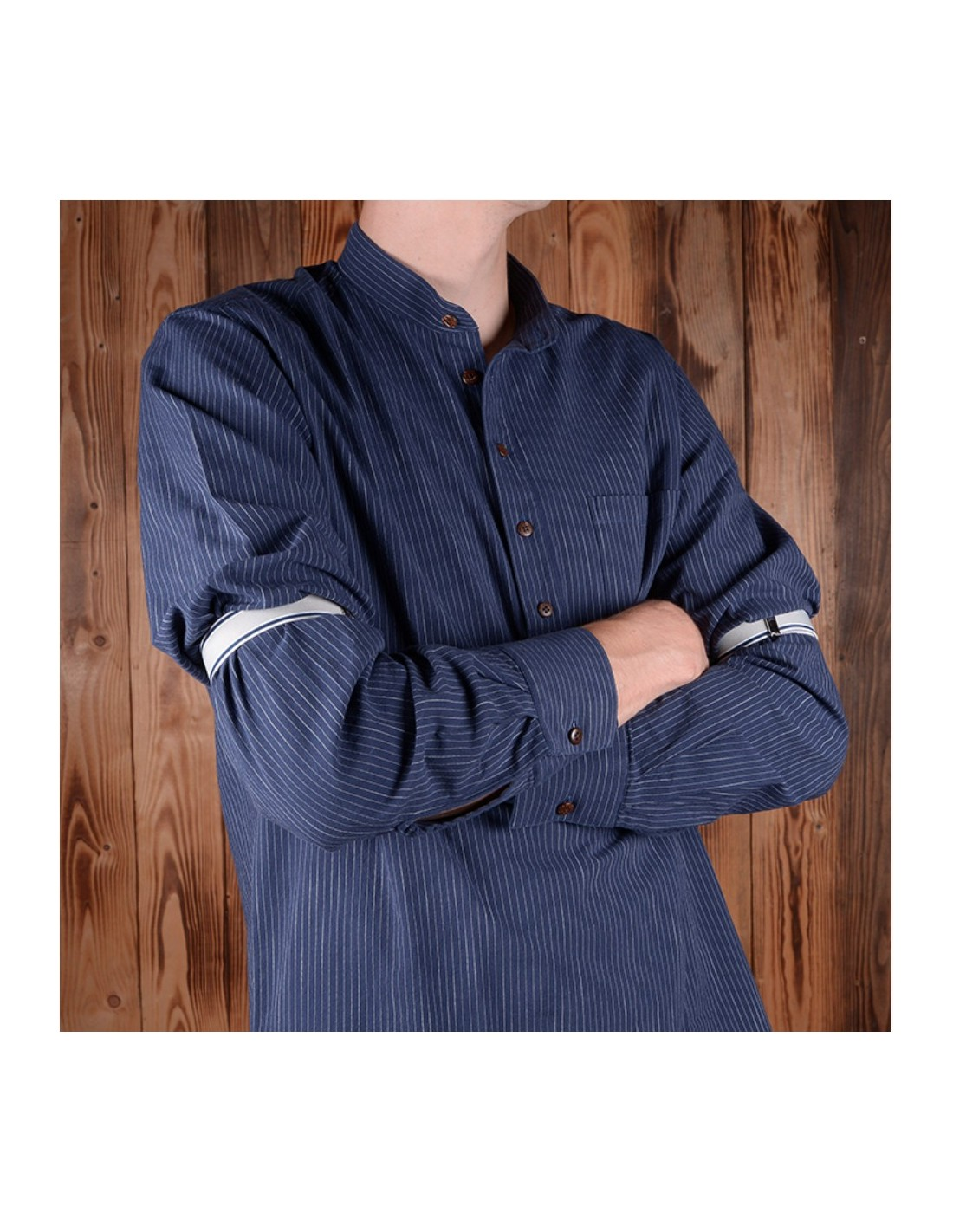 Tour de bras retro pour chemise - 1923 Sleeve Holder blue