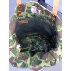 Tote Bag Frogskin USMC Brown by In Memories Sportswear