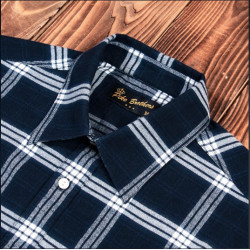 Chemise Flanelle - 1937 Roamer Shirt Dugway blue Pike Brothers
