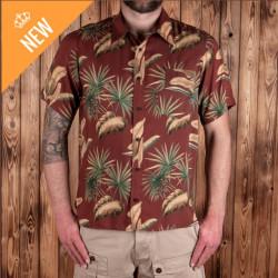 Chemise Hawaïenne - 1937 Roamer Shirt Short Sleeve Maohu red