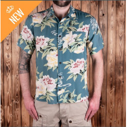 Chemise Hawaïenne - 1937 Roamer Shirt Short Sleeve Maohu blue Pike Brothers