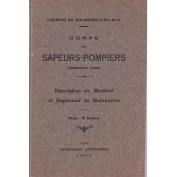 Corps des Sapeurs-Pompiers communaux armes  - Commune de Moleenbeck St Jean Edition 1924