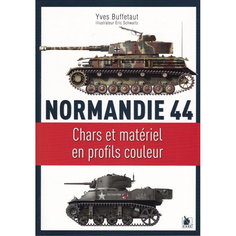 Chars et matériel en profils couleur, Normandie 44