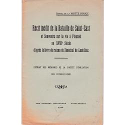 Récit inédit de la bataille de Saint-Cast et souvenirs sur la vie à Plancoët au XVIII° siècle