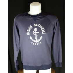 Sweatshirt Overlord 100% coton Marine Nationale bleu marine