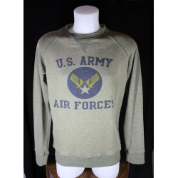 Sweatshirt Overlord 100% coton USAAF chiné
