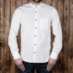 Chemise blanche 100% coton - Pike Brothers 1923 Buccanoy Shirt Yuma white