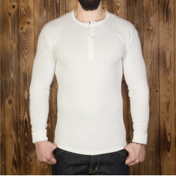 T-shirt US 100% coton à manches longues écru - Pike Brothers 1954 Utility Shirt Long Sleeve ecru