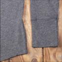 T-shirt Henley à boutonnière et manches longues gris chiné - Pike Brothers 1927 Henley long Sleeve grey melange