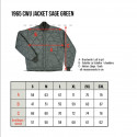 Veste pilote - 1965 CWU Jacket Sage Green Pike Brothers