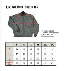 Veste pilote - 1965 CWU Jacket Sage Green Pike Brothers