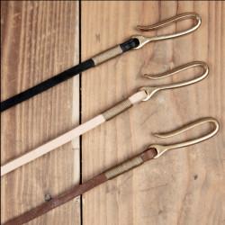Lanière cuir marron pour portefeuille ou porte-clés - 1936 Chopper Lanyard brown Pike Brothers