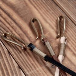 Lanière cuir noir pour portefeuille ou porte-clés - 1936 Chopper Lanyard black Pike Brothers
