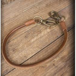 Lanière de portefeuille en cuir marron