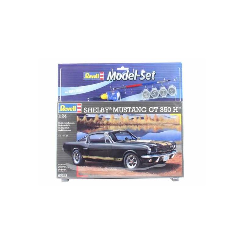 Maquette Revell Shelby Mustang Gt 350 Set - coffret contenant la maquette, les peintures, pinceau et colle