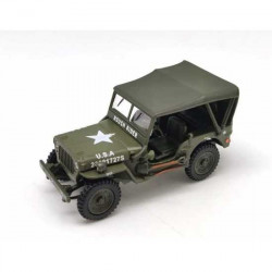 Miniature Jeep Willys capotée Oliex 1/43