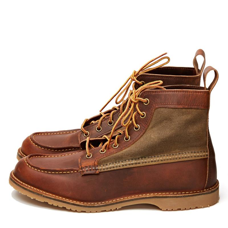 Bottines 3335 Wacouta Moc Copper Rough & Tough Red Wing Shoes