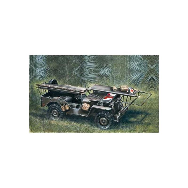 Maquette Jeep Ambulance 1/35e ITALERI