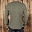 T-Shirt Henley Gaufré OD - 1936 Waffle Shirt Army Pike Brothers